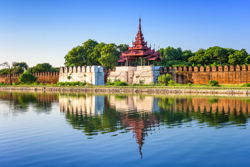 Mandalay Palace royalty-vrije stock foto