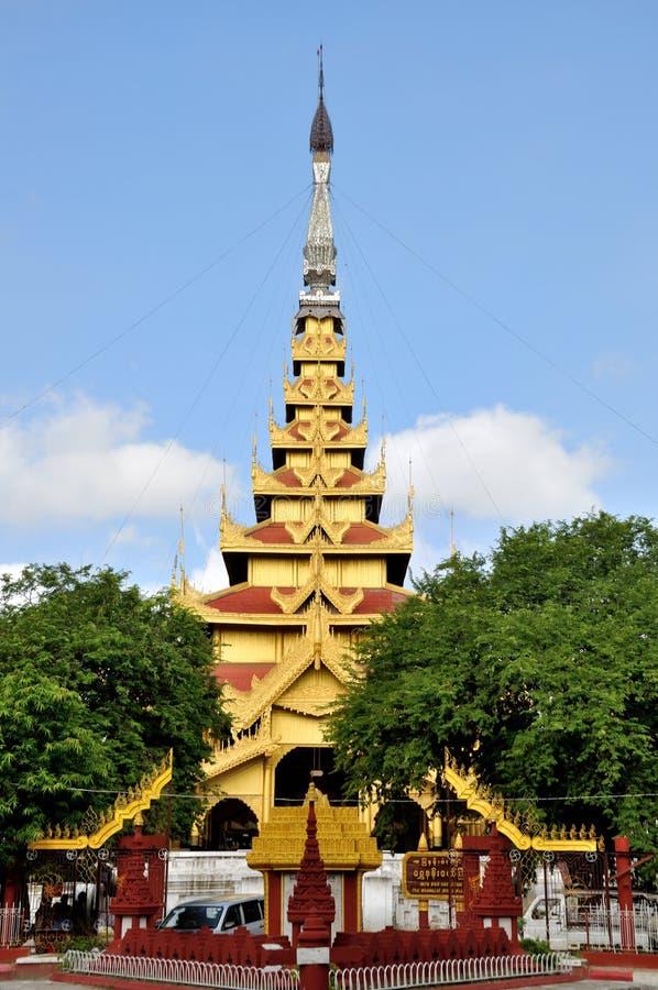 Mandalay Palace. The Mandalay Palace, located in Mandalay, Myanmar, is the last royal palace of the last Burmese monarchy royalty free stock photos
