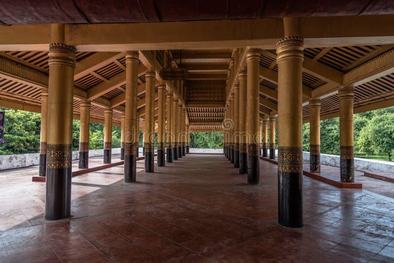 Mandalay Palace, Mandalay, Myanmar. View of Mandalay Palace, Mandalay, Myanmar royalty free stock images