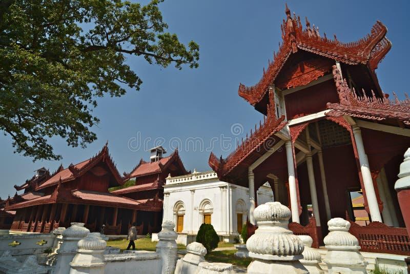 Mandalay Palace.Myanmar royalty-vrije stock foto's