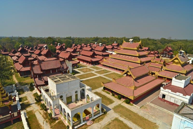 Mandalay Palace.Myanmar royalty-vrije stock afbeeldingen