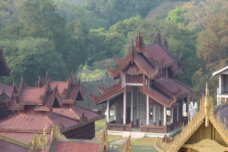 Mandalay Palace. At Mandalay, Myanmar royalty free stock image