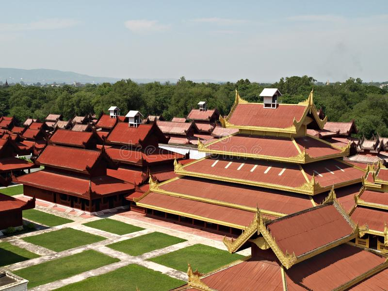 Mandalay Palace, Myanmar (Burma). Mandalay Palace (Temple of Grand Palace in Mandalay) Myanmar (Burma royalty free stock images