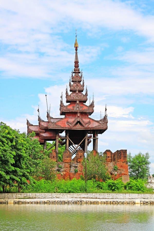Mandalay Palace Wall, Mandalay, Myanmar. The Mandalay Palace located in Mandalay, Myanmar, is the last royal palace of the last Burmese monarchy. The palace was stock photos