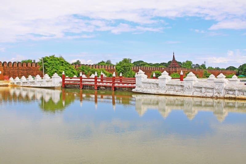 Mandalay Palace Wall, Mandalay, Myanmar. The Mandalay Palace located in Mandalay, Myanmar, is the last royal palace of the last Burmese monarchy. The palace was royalty free stock photos