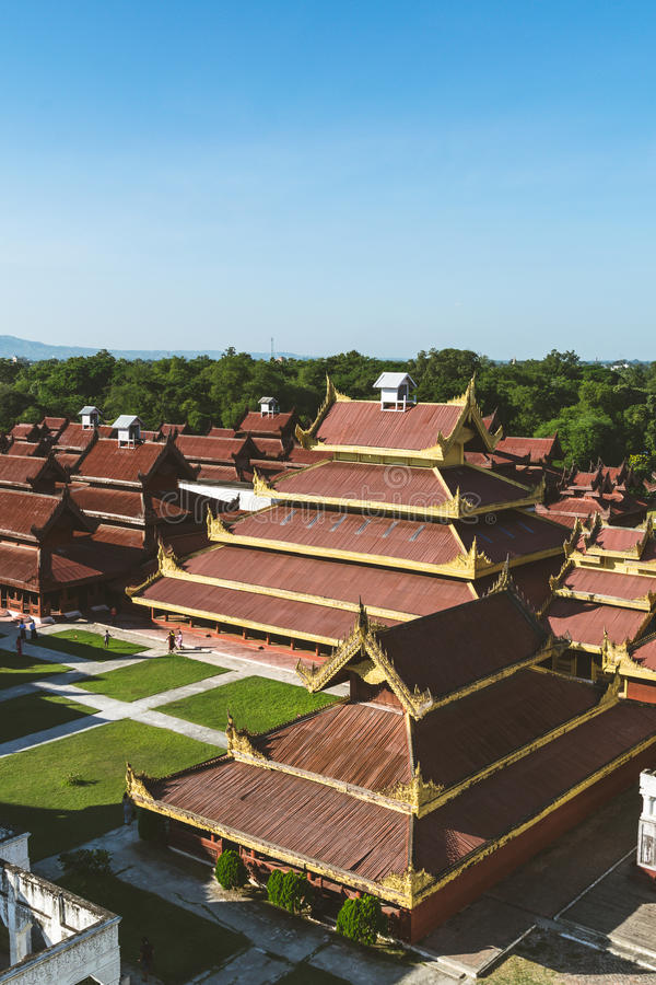 Mandalay-Palast in Mandaylay-Stadt, Myanmar stockbilder