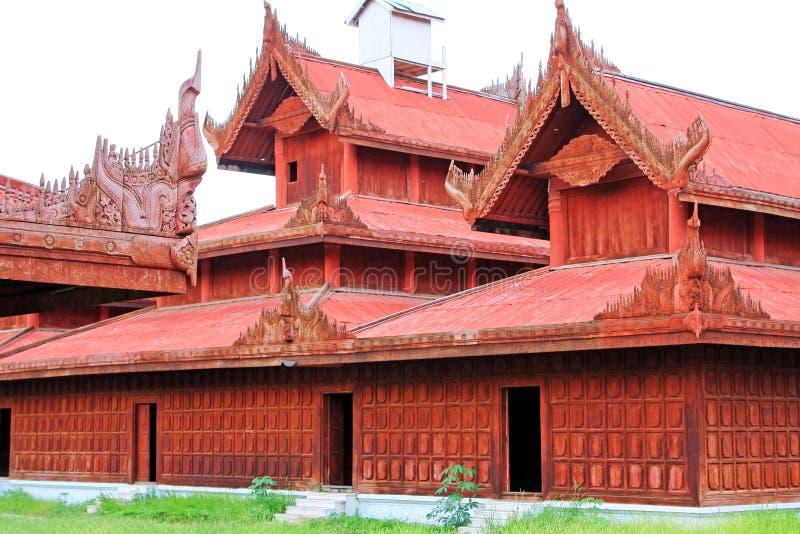 Mandalay Royal Palace, Mandalay, Myanmar immagini stock libere da diritti