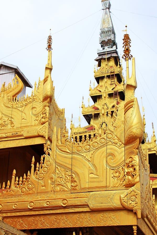 Mandalay Royal Palace, Mandalay, Myanmar. The Mandalay Palace located in Mandalay, Myanmar, is the last royal palace of the last Burmese monarchy. The palace was royalty free stock photos