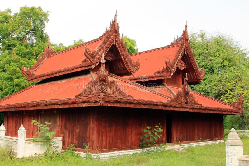 Mandalay Royal Palace, Mandalay, Myanmar. The Mandalay Palace located in Mandalay, Myanmar, is the last royal palace of the last Burmese monarchy. The palace was royalty free stock image