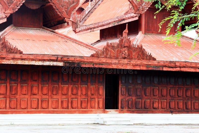 Mandalay Royal Palace, Mandalay, Myanmar. The Mandalay Palace located in Mandalay, Myanmar, is the last royal palace of the last Burmese monarchy. The palace was royalty free stock photography