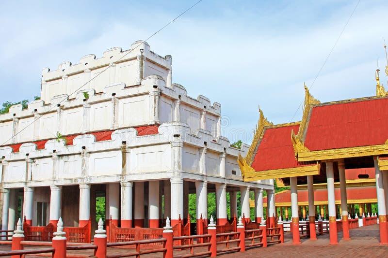 Mandalay Royal Palace, Mandalay, Myanmar. The Mandalay Palace located in Mandalay, Myanmar, is the last royal palace of the last Burmese monarchy. The palace was stock photo