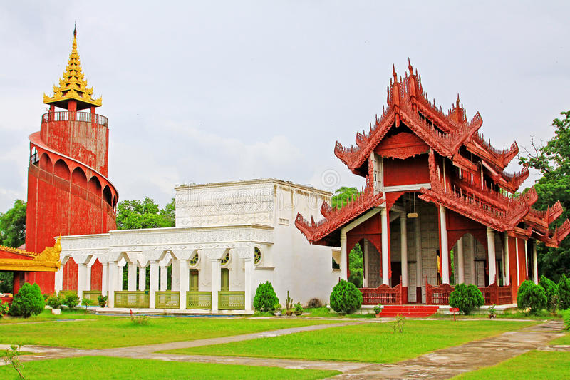 Mandalay Royal Palace, Mandalay, Myanmar. The Mandalay Palace located in Mandalay, Myanmar, is the last royal palace of the last Burmese monarchy. The palace was stock photos