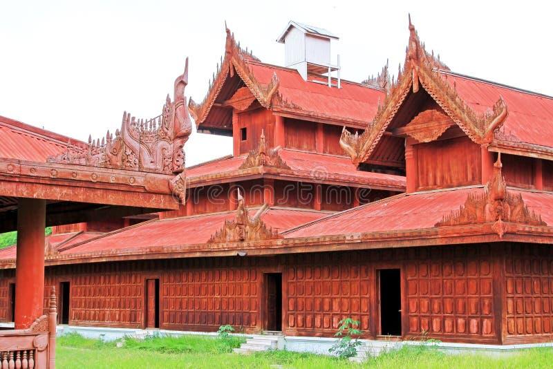 Mandalay Royal Palace, Mandalay, Myanmar. The Mandalay Palace located in Mandalay, Myanmar, is the last royal palace of the last Burmese monarchy. The palace was stock image