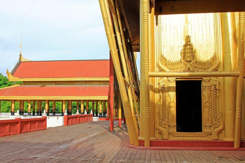 Mandalay Royal Palace, Mandalay, Myanmar. The Mandalay Palace located in Mandalay, Myanmar, is the last royal palace of the last Burmese monarchy. The palace was royalty free stock images