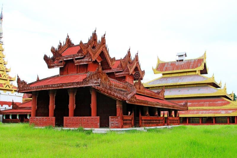 Mandalay Royal Palace, Mandalay, Myanmar. The Mandalay Palace located in Mandalay, Myanmar, is the last royal palace of the last Burmese monarchy. The palace was royalty free stock photo