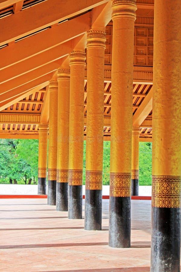 Mandalay Royal Palace, Mandalay, Myanmar. The Mandalay Palace located in Mandalay, Myanmar, is the last royal palace of the last Burmese monarchy. The palace was stock photography