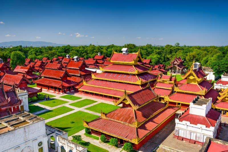 Mandalay Royal Palace. Mandalay, Myanmar buildings on the Royal Palace grounds stock image