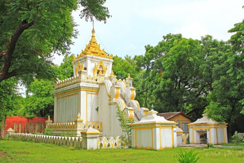 Mandalay Royal Palace Relic Tower, Mandalay, Myanmar. The Mandalay Palace located in Mandalay, Myanmar, is the last royal palace of the last Burmese monarchy stock photos