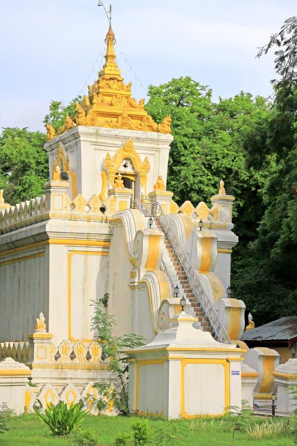 Mandalay Royal Palace Relic Tower, Mandalay, Myanmar. The Mandalay Palace located in Mandalay, Myanmar, is the last royal palace of the last Burmese monarchy royalty free stock image