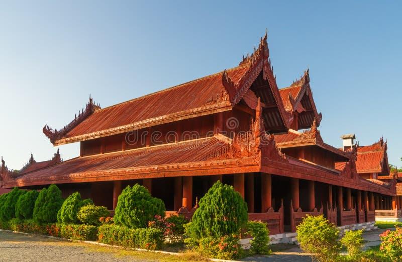 At Mandalay Royal Palace royalty free stock image