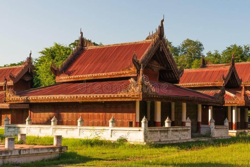 At Mandalay Royal Palace stock image