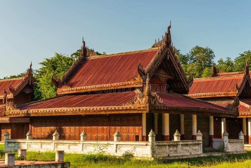 At Mandalay Royal Palace royalty free stock photography