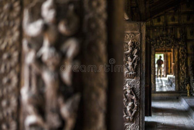 Mandalay, Shwenandaw monaster - obrazy stock