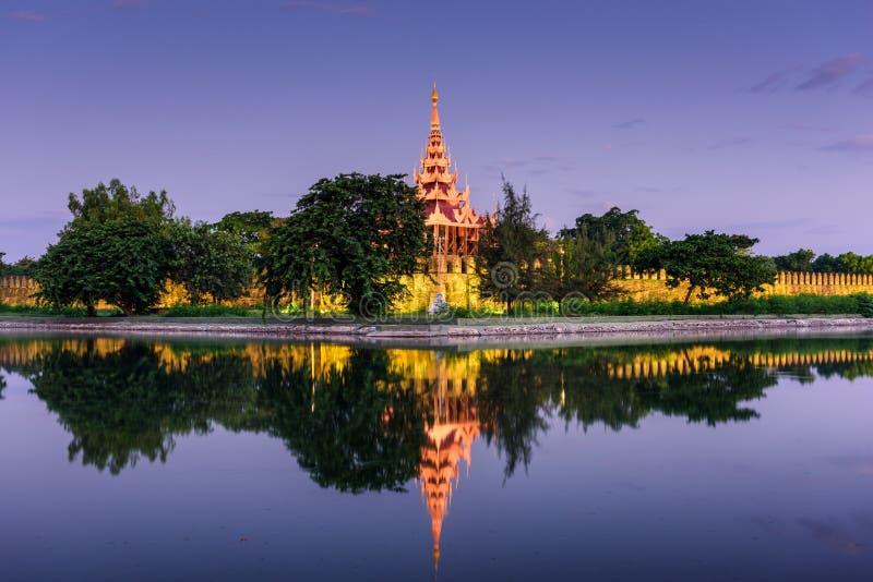 Mandalay slottvägg fotografering för bildbyråer