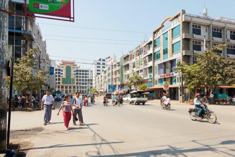 Mandalay-Straßen stockbild