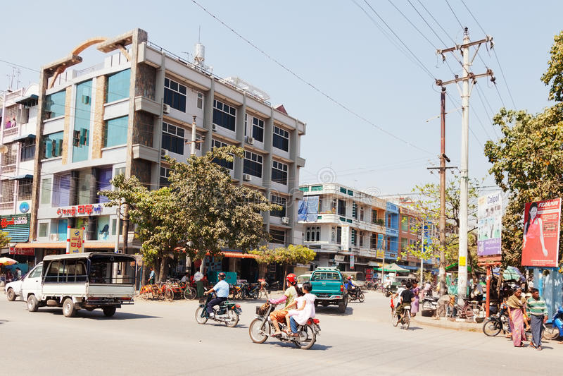 Mandalay-Straßen lizenzfreie stockfotografie