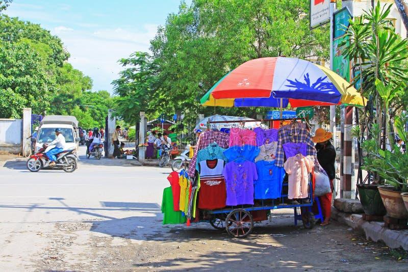 Mandalay Street Vendors, Myanmar. Street vendors in the Mandalay City, Myanmar royalty free stock photography