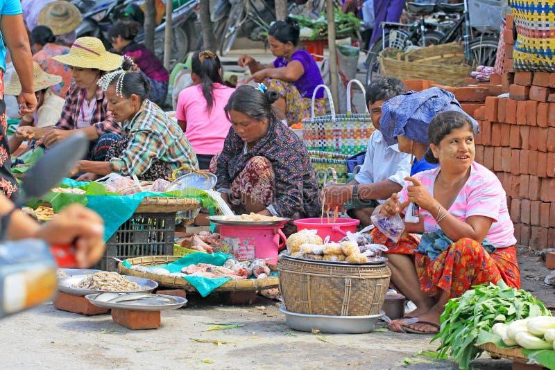 Mandalay Street Vendors, Myanmar. Street vendors in the Mandalay City, Myanmar stock photos