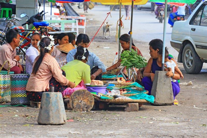 Mandalay Street Vendors, Myanmar. Street vendors in the Mandalay City, Myanmar stock images
