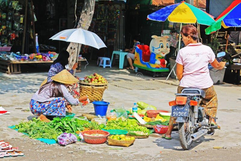 Mandalay Street Vendors, Myanmar. Street vendors in the Mandalay City, Myanmar royalty free stock images