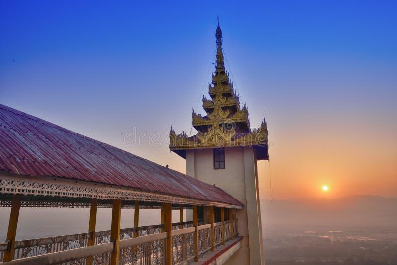 Mandalay Sutaungpye Pagoda sunrise stock image