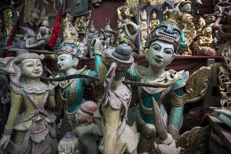 Mandalay - towarowa fabryka zdjęcie royalty free