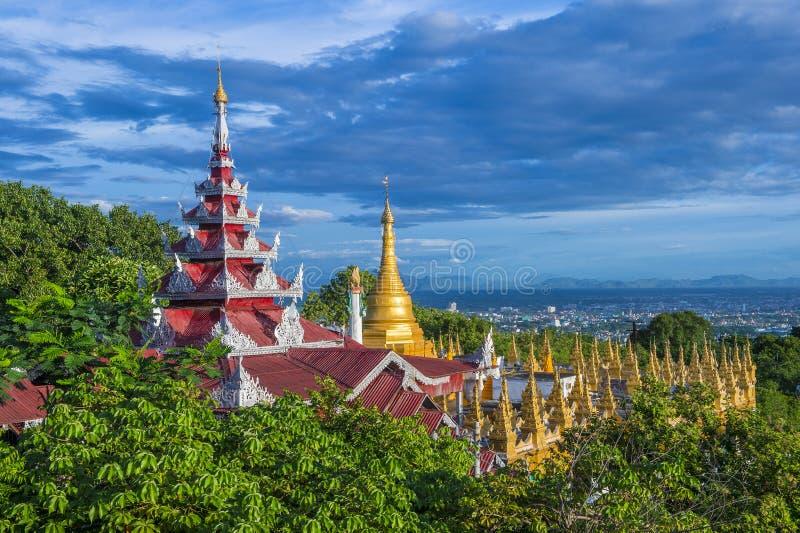 Mandalay wzgórze Myanmar zdjęcia stock