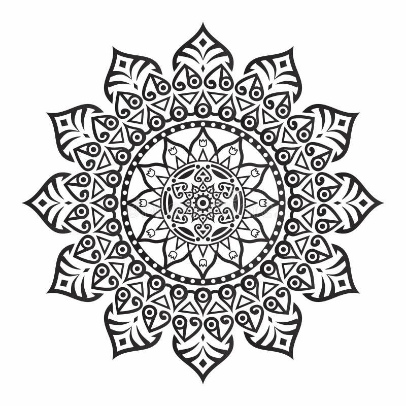 Mandale del fiore Elementi decorativi dell'annata Modello orientale, illustrazione di vettore Islam, arabo, indiano, turco, pakis royalty illustrazione gratis