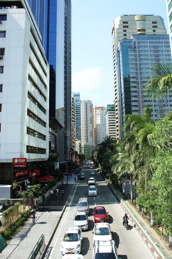 Mandaluyong市,菲律宾,天空刮板 图库摄影