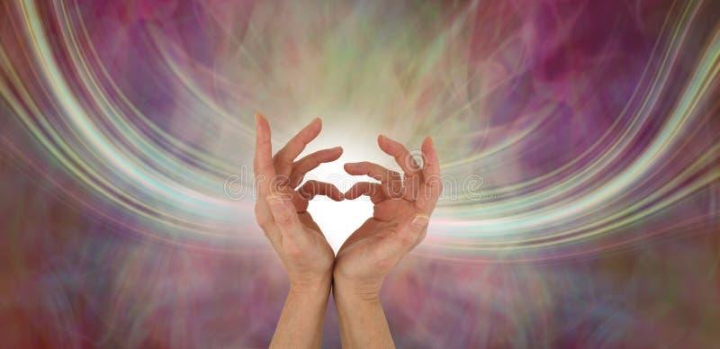 Mandando vibrações do amor de meu coração fotos de stock royalty free