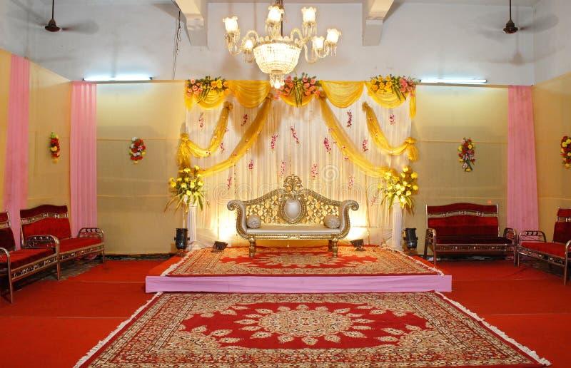 Mandap indiano di cerimonia nuziale fotografie stock