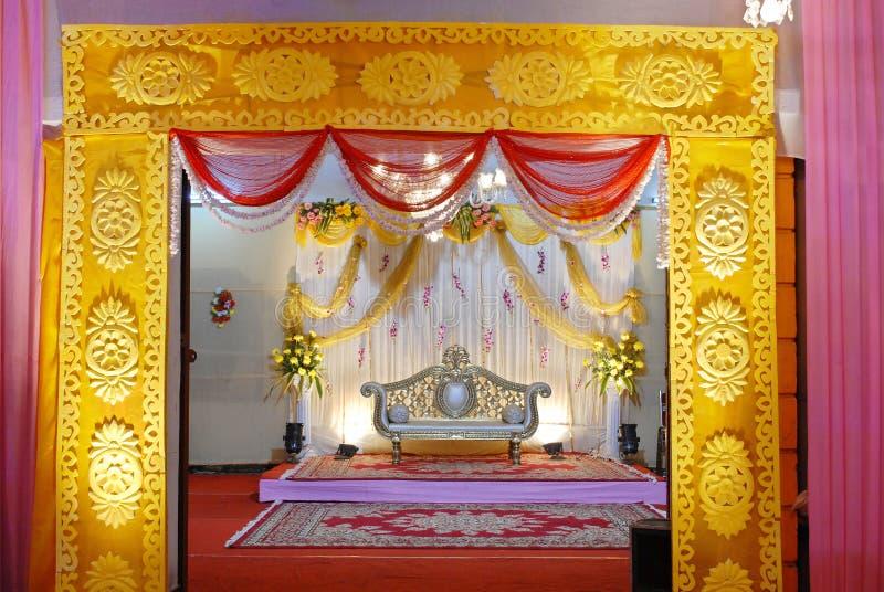 Mandap indiano do casamento imagem de stock royalty free