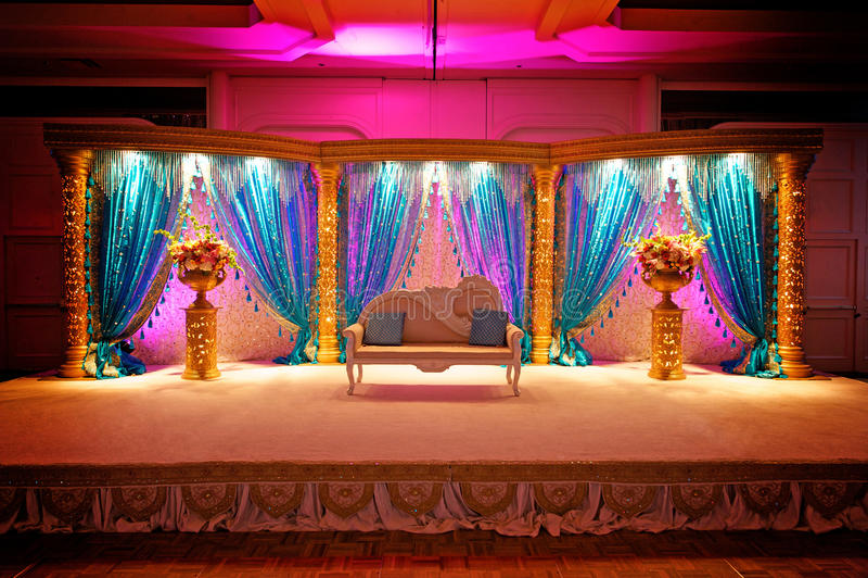 Mandap Wedding indien photographie stock