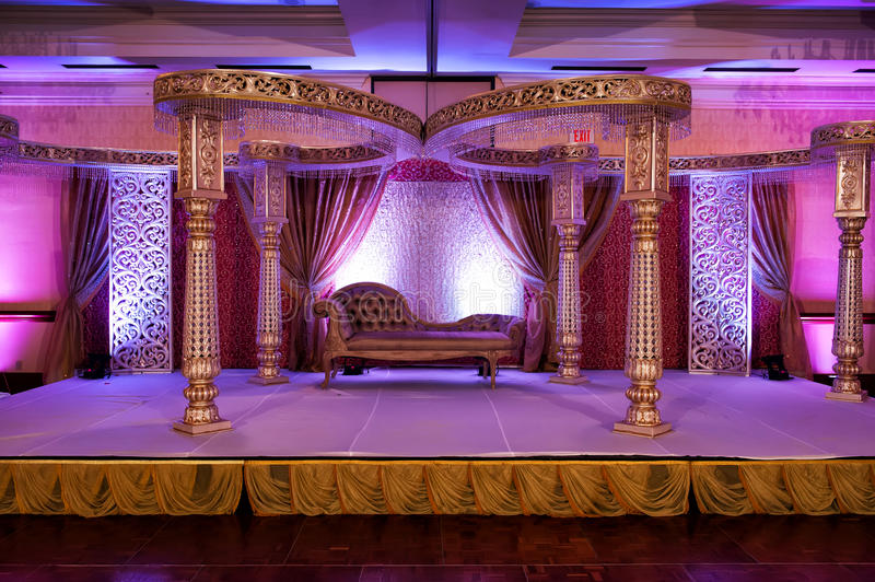 Mandap Wedding indien photos libres de droits