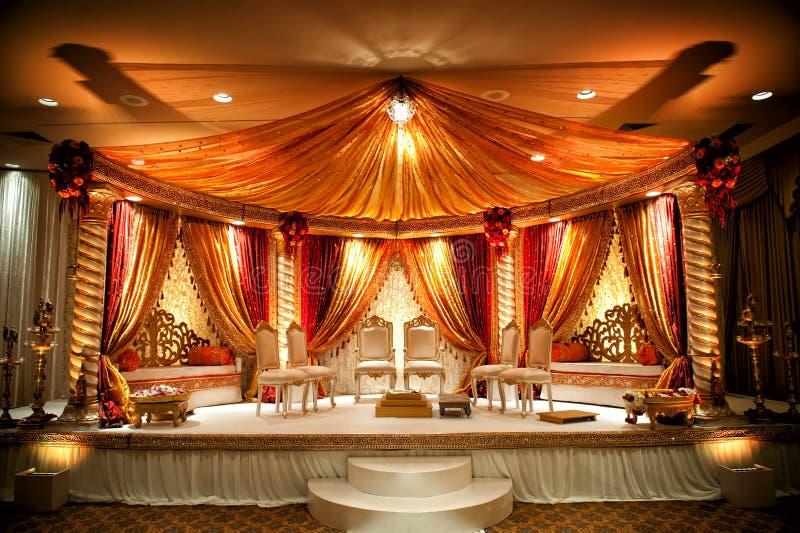 Mandap Wedding indio fotos de archivo