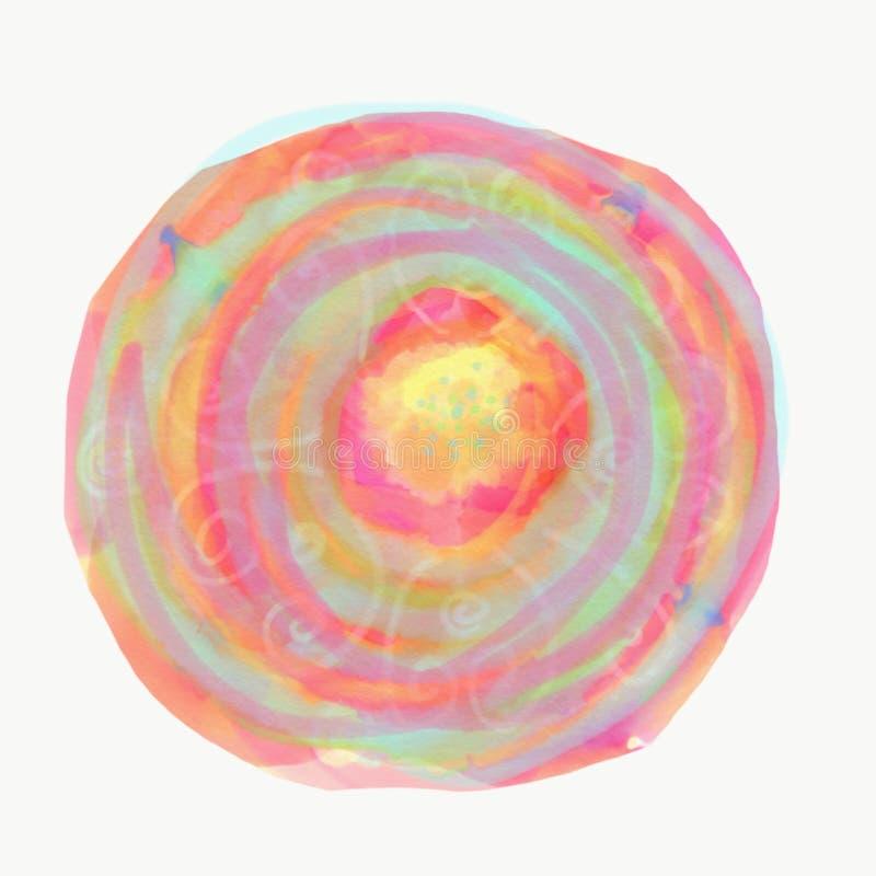 Mandara med vattenfärger vektor illustrationer