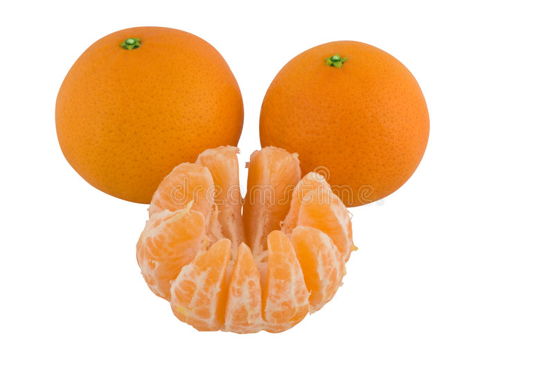 Mandarijn, Satsuma-mandarijn of Mandarijntjes stock afbeeldingen