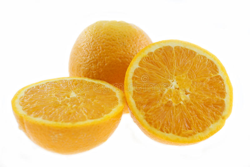 Mandarin citroen en wit royalty-vrije stock foto