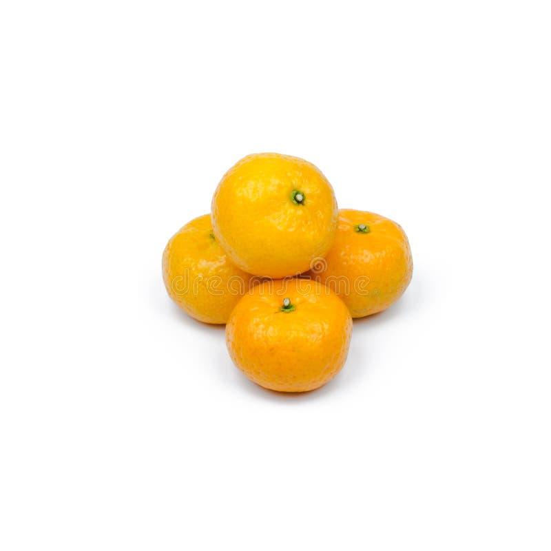 mandarin citrus isolated tangerine mandarine orange on white background. stock photo