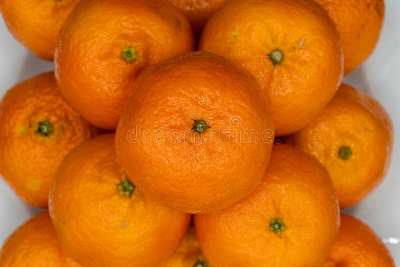 Tangerines from Spain stock photos